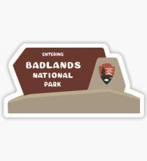 Badlands National Park Sign, South Dakota, USA Sticker