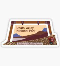 Death Valley National Park Sign, CA & NV, USA Sticker