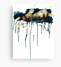 Bee With Drills Canvas Print