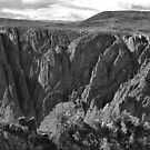 Black Canyon of the Gunnison 4 BW  by Robert Meyers-Lussier