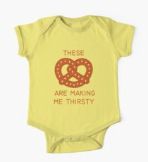 These pretzels are make me thirsty Short Sleeve Baby One-Piece