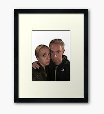 Martin Freeman and Amanda Abbington Framed Print