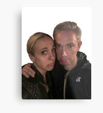 Martin Freeman and Amanda Abbington Metal Print