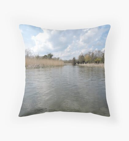 Across The Water: Thorpeness Throw Pillow