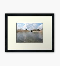 Across The Water: Thorpeness Framed Print