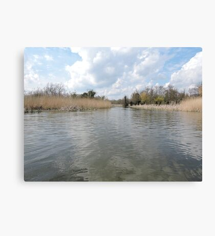 Across The Water: Thorpeness Canvas Print