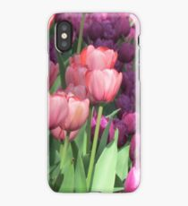 Tulips pinks and purple iPhone Case/Skin