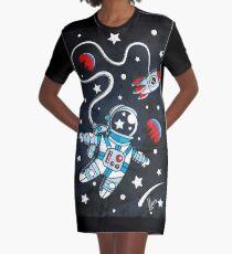 Space Walk Graphic T-Shirt Dress