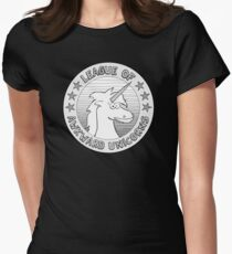 The League of Awkward Unicorns Official Gear Womens Fitted T-Shirt