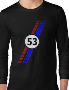 VW 53, the Love Bug's racing stripes and number 53 Long Sleeve T-Shirt