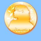 Athena Golden Coin by anankeblue