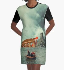 We Are All Fishermen Graphic T-Shirt Dress