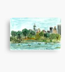 The Lake at Central Park Canvas Print