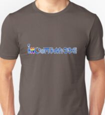 """INCOMPATIBLE and cannot """"coexisist"""" (blue with outline) Unisex T-Shirt"""
