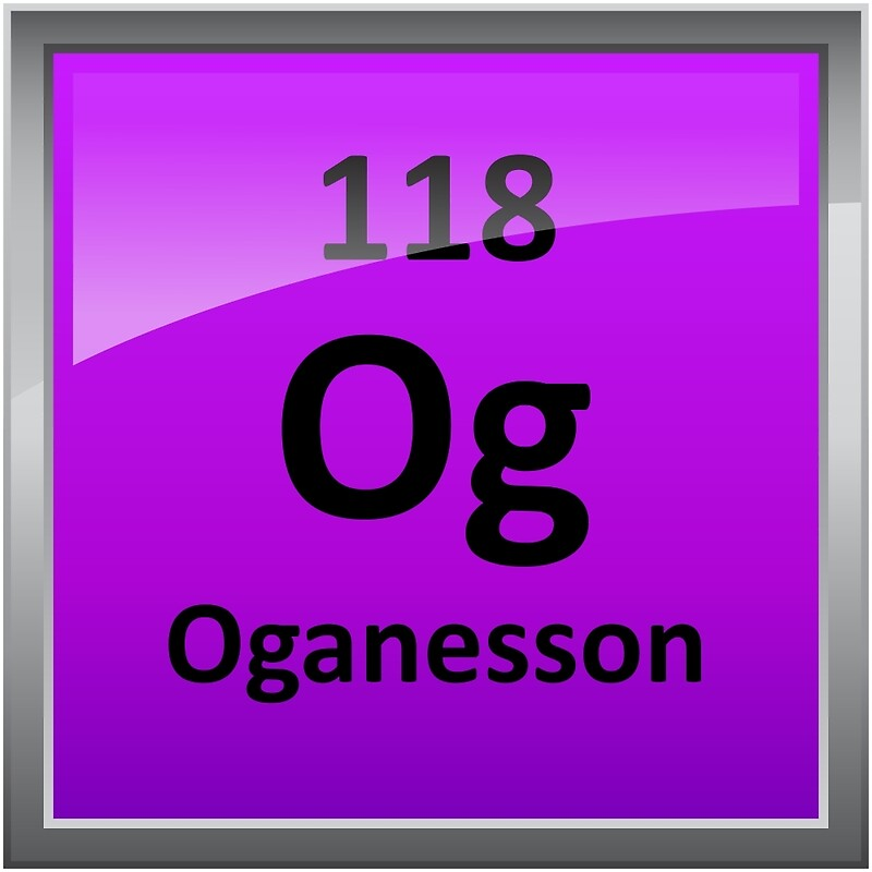 oganesson element 118 periodic table symbol by sciencenotes - Periodic Table Symbols Of Elements