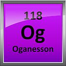 Oganesson - Element 118 Periodic Table Symbol by sciencenotes