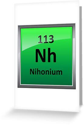 Nihonium or element 113 periodic table symbol greeting cards by nihonium or element 113 periodic table symbol by sciencenotes urtaz Images