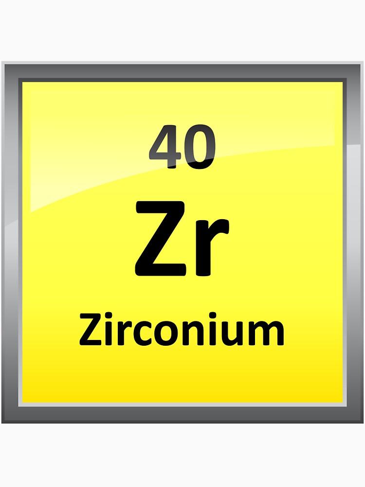 Zirconium element symbol periodic table unisex t shirt by zirconium element symbol periodic table by sciencenotes urtaz Gallery