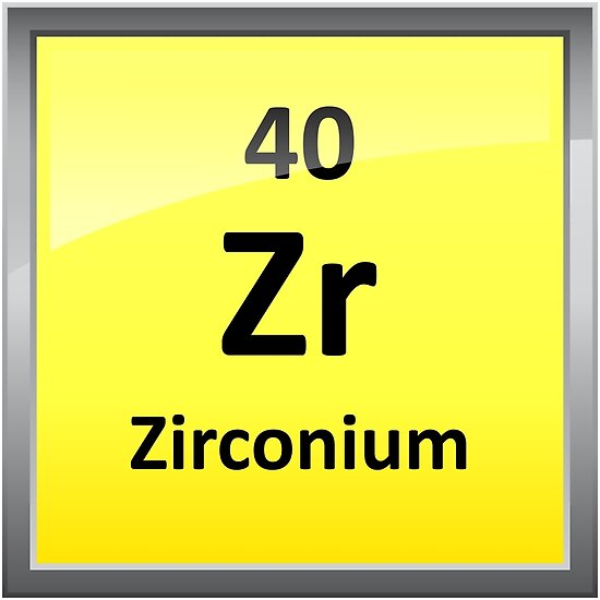 Zirconium Element Symbol Periodic Table Posters By Sciencenotes