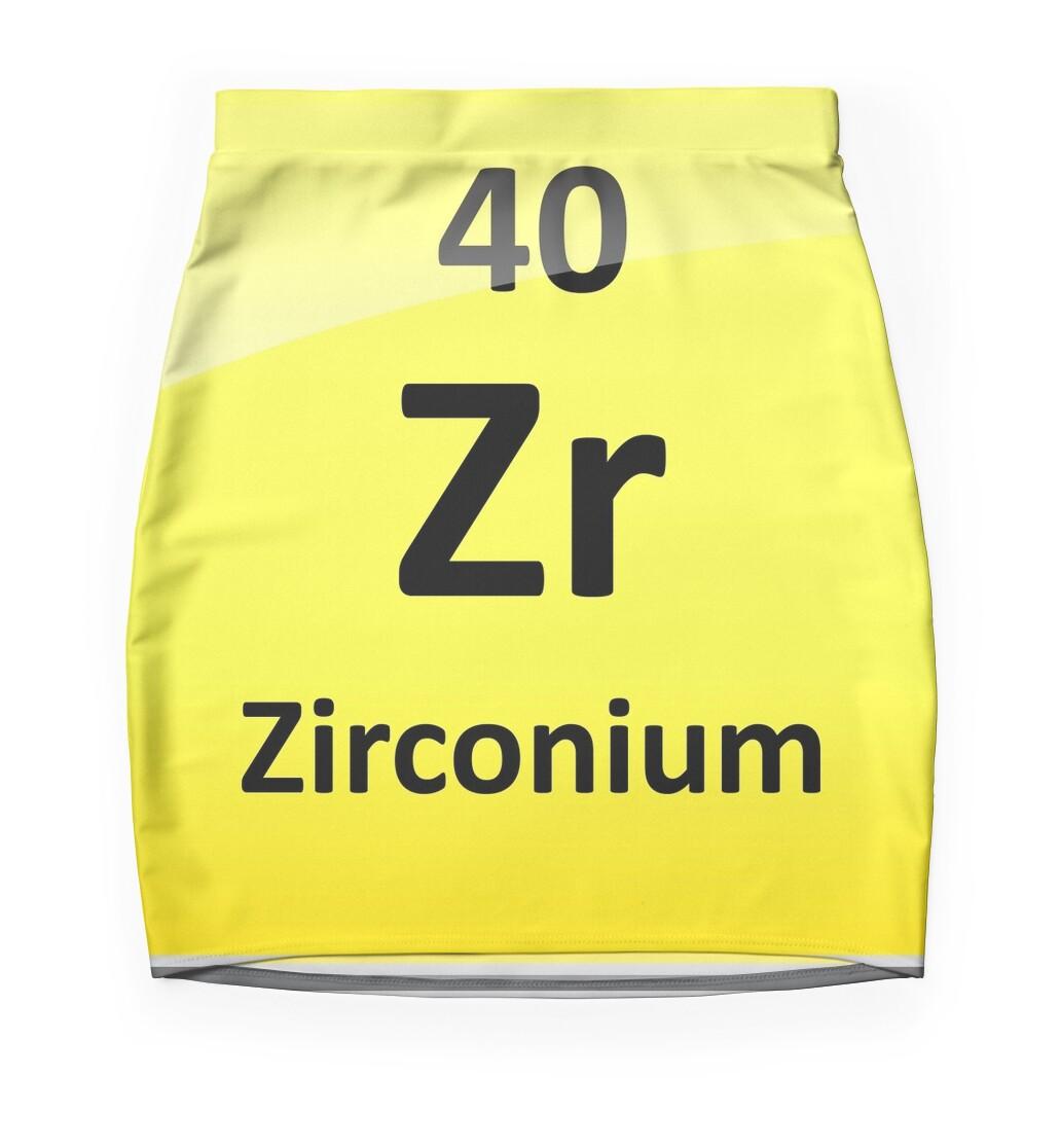 Zirconium element symbol periodic table mini skirts by zirconium element symbol periodic table gamestrikefo Images