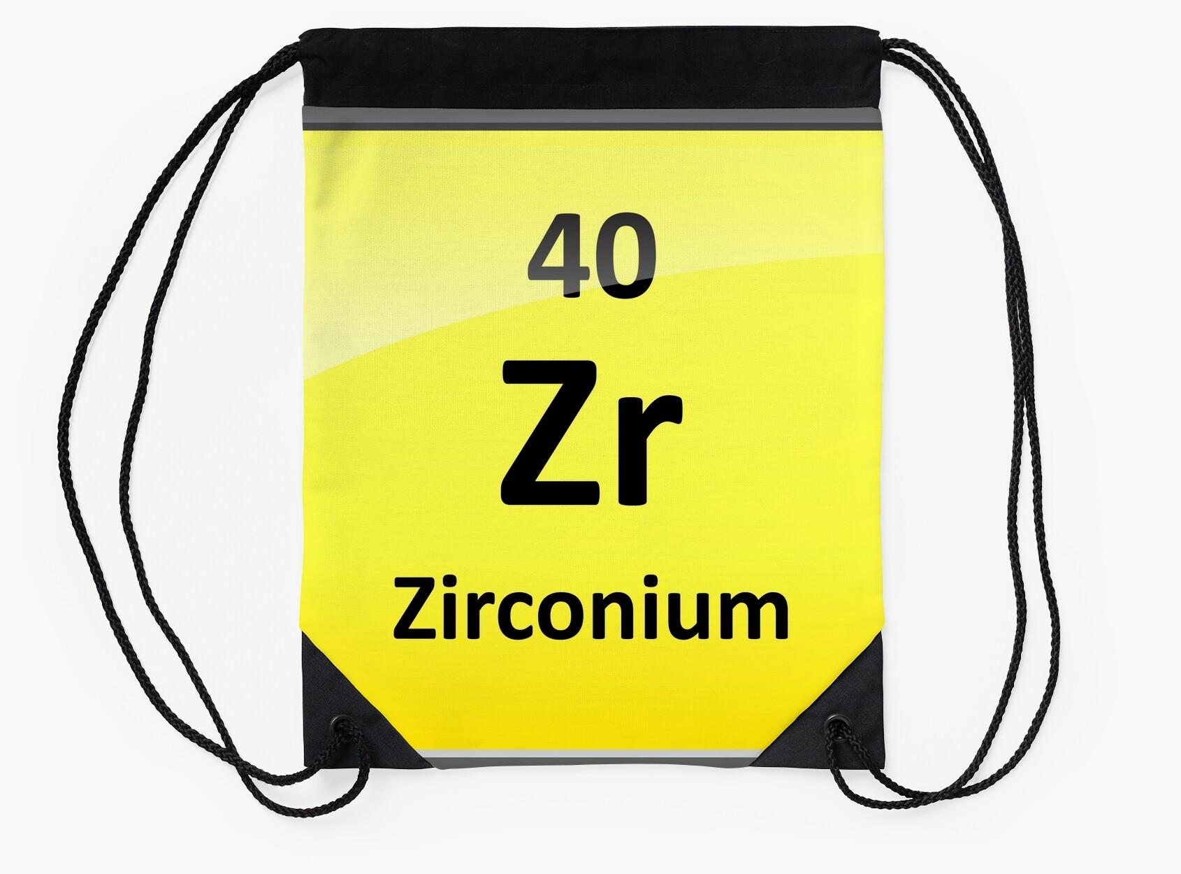 Zirconium element symbol periodic table drawstring bags by zirconium element symbol periodic table gamestrikefo Images
