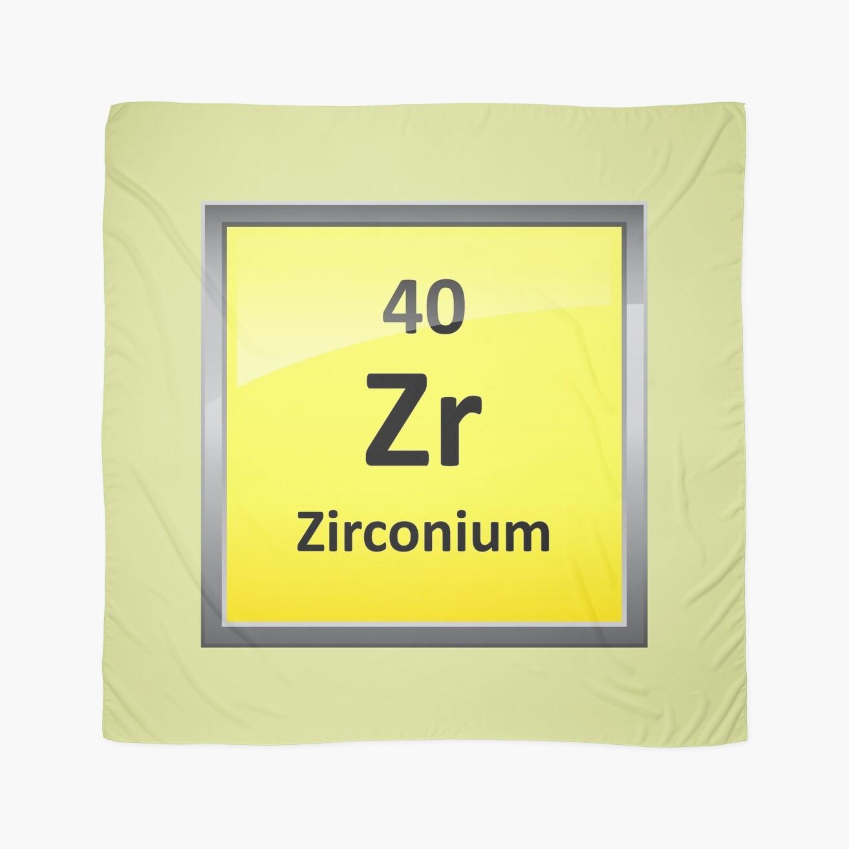 Zirconium element symbol periodic table scarves by sciencenotes zirconium element symbol periodic table gamestrikefo Images