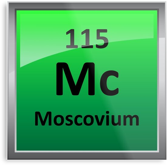Moscovium or element 115 periodic table symbol metal prints by moscovium or element 115 periodic table symbol by sciencenotes urtaz Images