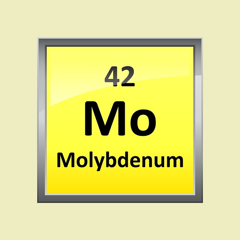 Molybdenum Periodic Table Element Symbol Scarves By Sciencenotes