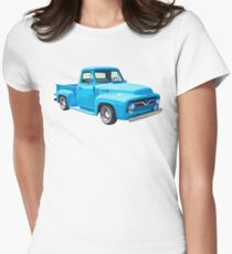 Camiseta entallada para mujer Classic 1955 F100 Ford Pickup Truck