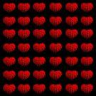 Knitting hearts by JuliaPaa