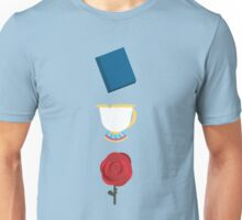 Books, Cups, and Roses Unisex T-Shirt