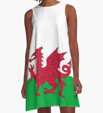 National flag of Wales - High Quality Authentic version A-Line Dress