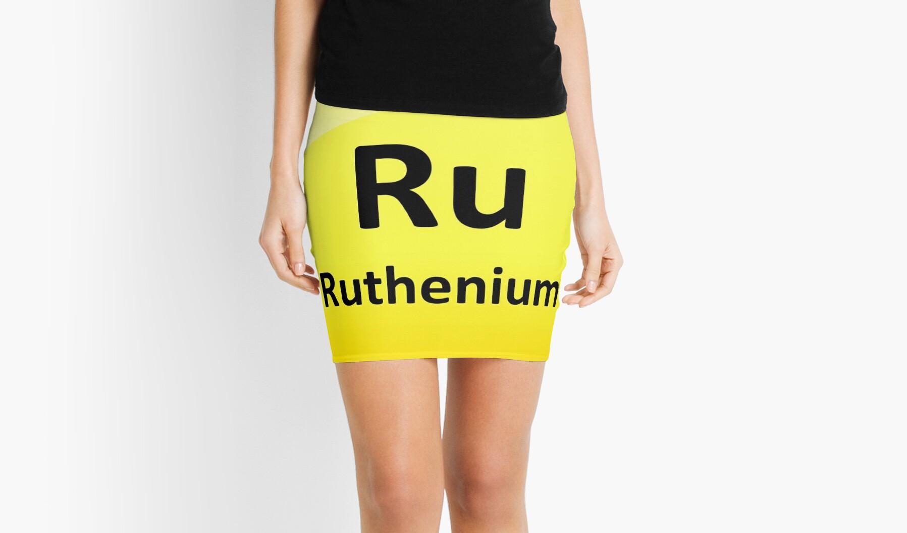 Ruthenium Periodic Table Element Symbol Mini Skirts By Sciencenotes