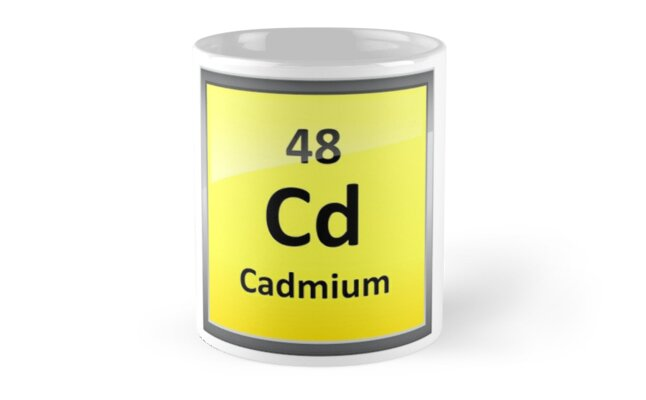 Cadmium Periodic Table Element Symbol Mugs By Sciencenotes Redbubble