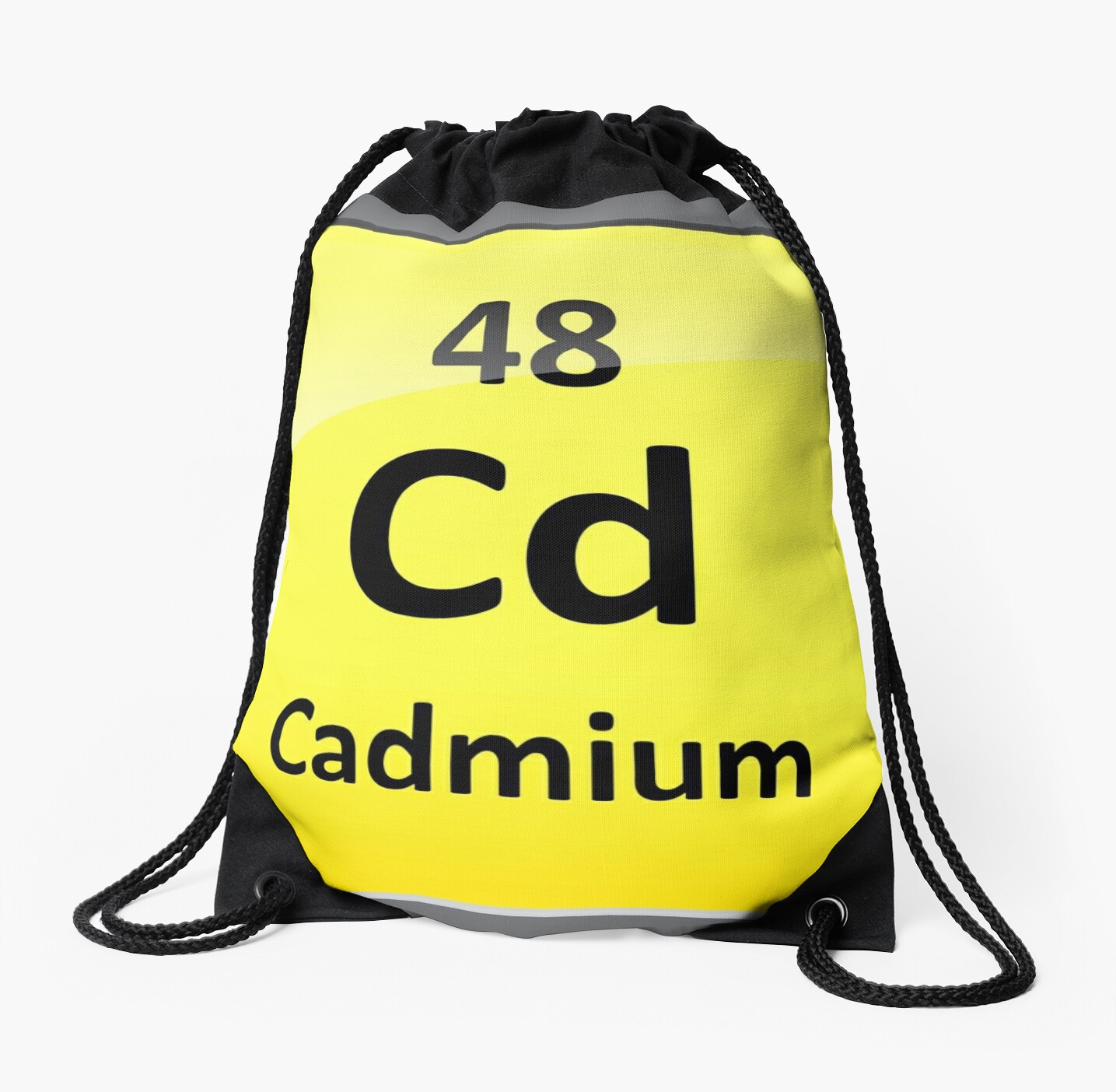 Cadmium Periodic Table Element Symbol Drawstring Bags By
