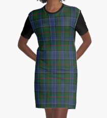 01047 Colquhoun Clan/Family Tartan  Graphic T-Shirt Dress