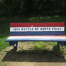 Park Bench at Fort Howard Park by Darlene Bayne