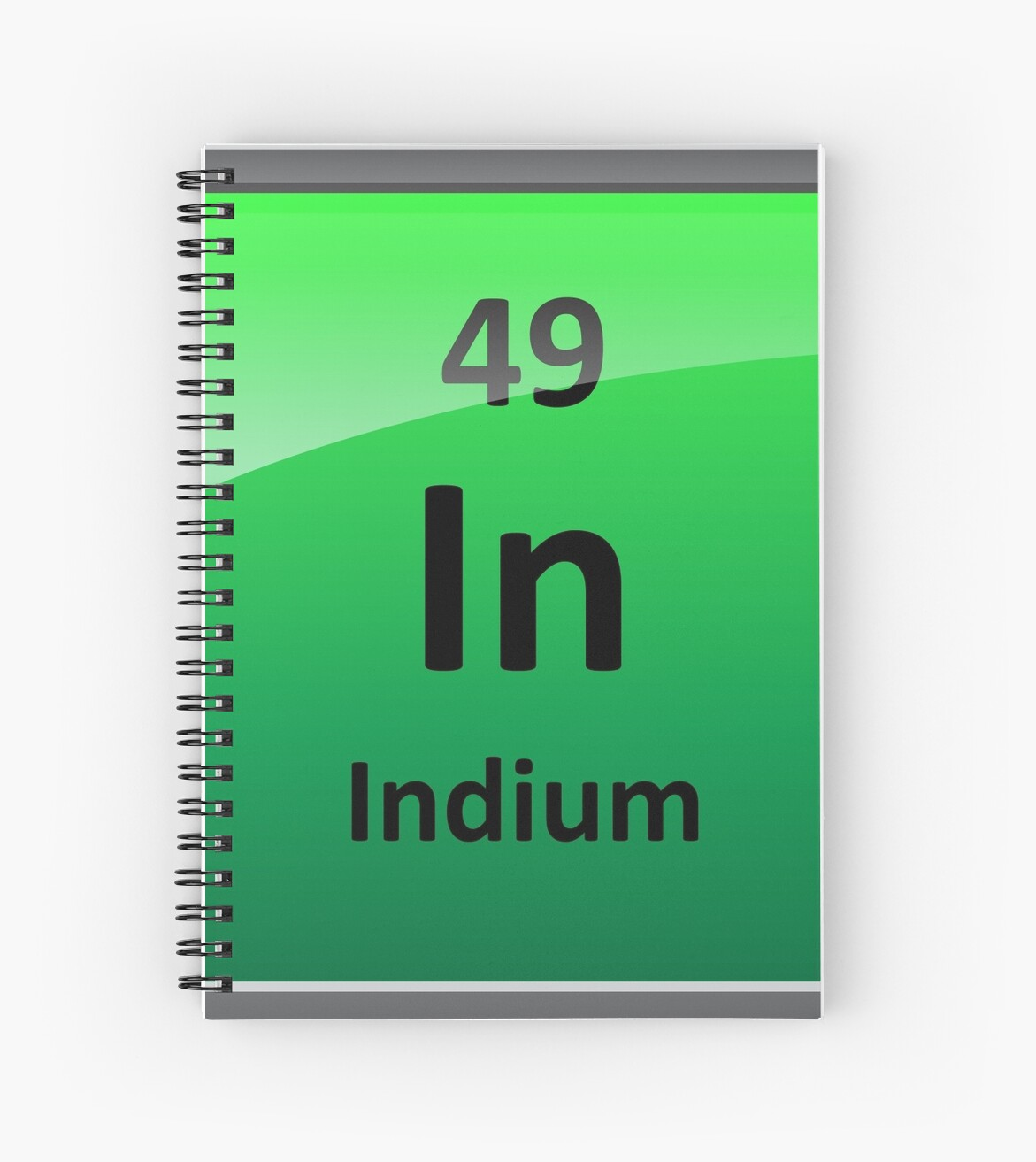 Indium Periodic Table Element Symbol Spiral Notebooks By