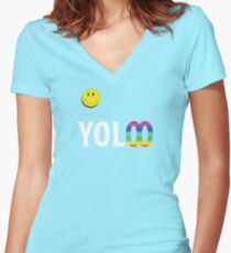 You Only Live Infinitely Women's Fitted V-Neck T-Shirt