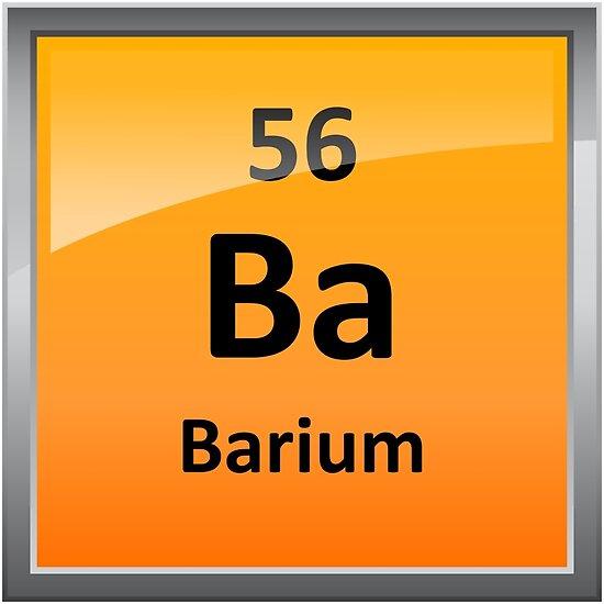 """""""Barium Periodic Table Element Symbol"""" Posters by ... Barium Symbol"""
