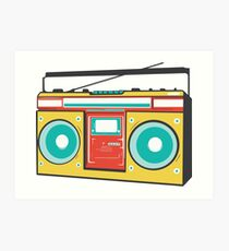 colorful boombox Art Print