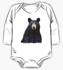 Black Bear Long Sleeve Baby One-Piece