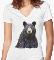 Black Bear Fitted V-Neck T-Shirt
