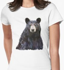 Black Bear Women's Fitted T-Shirt