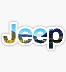 Jeep Landscape Sticker