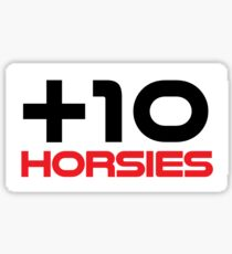 +10 Horsies Sticker Sticker