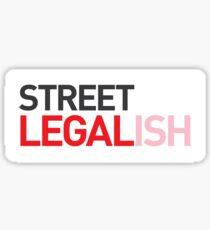 Straße legal (ish) Sticker