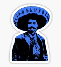 Emiliano Zapata - bichrome black / blue Sticker