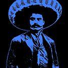 Emiliano Zapata - bichrome black / blue by Bela-Manson