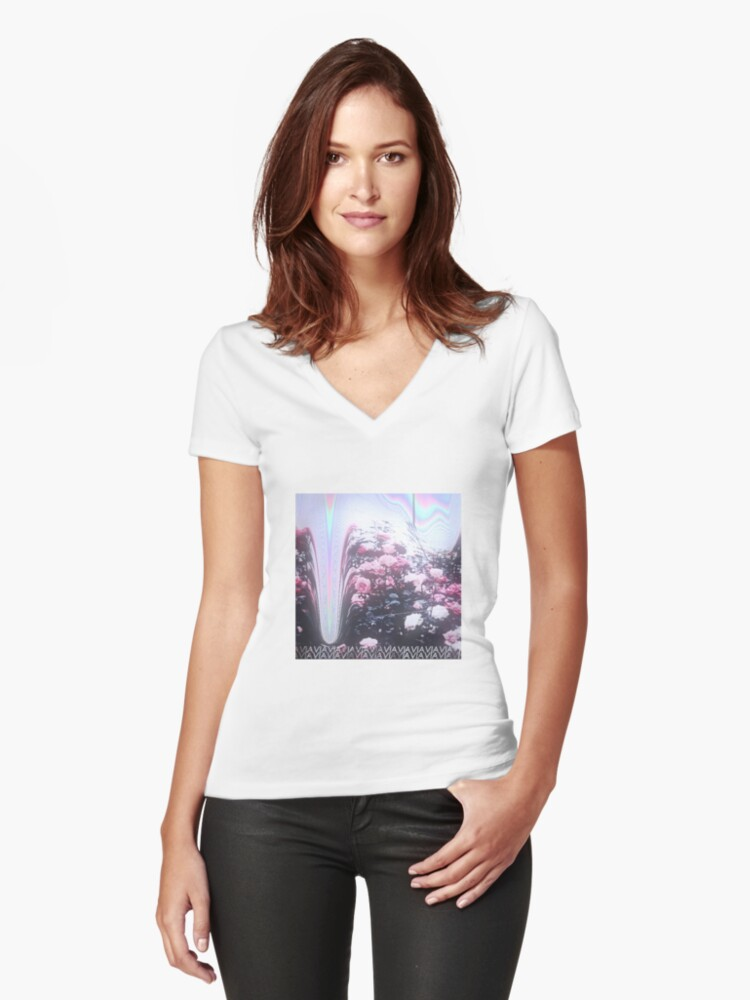 Crystal Castles Women's Fitted V-Neck T-Shirt Front
